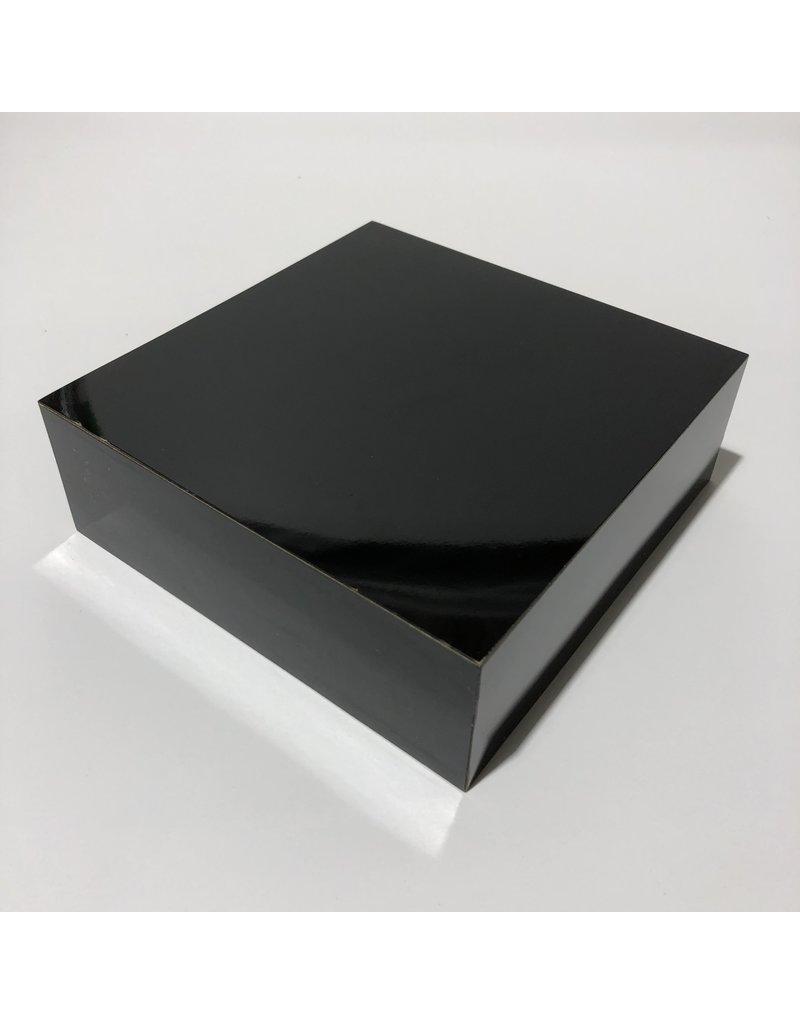 Just Sculpt Formica Base 6x6x2 Gloss Black