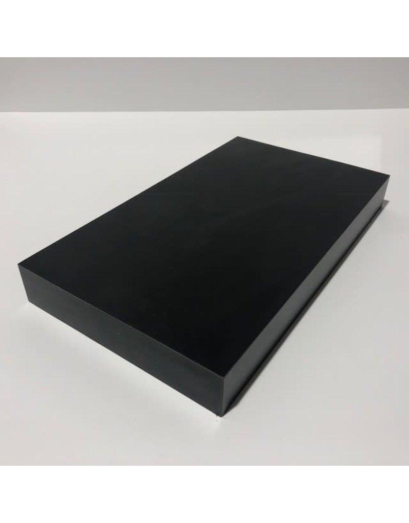 Just Sculpt Formica Base 12x7x1.5 Gloss Black