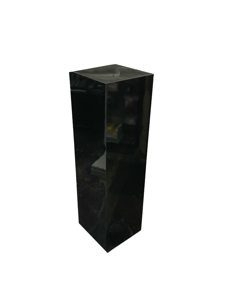 Just Sculpt Formica Pedestal 12x12x42 Black Gloss