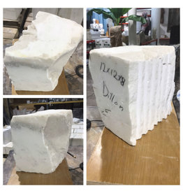 Stone 79lb Statuario Puro Bianco Marble 12x12x8 #361025