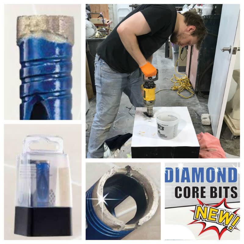 "ITM Blu Diamond Bit 1"" Hex Shank 3/8"""
