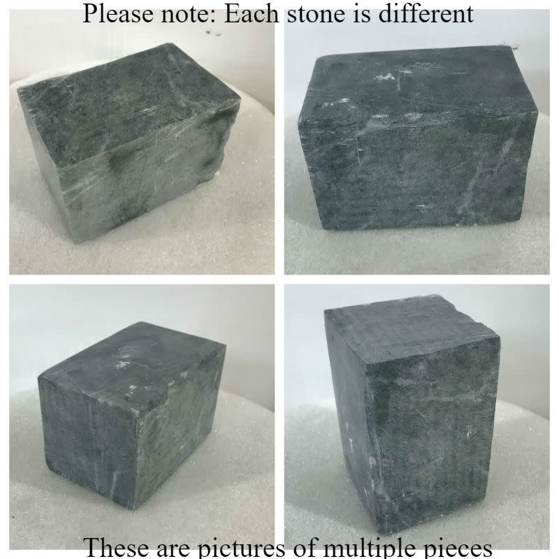 Stone Indian Gray Soapstone 4lb Block  3x3x4.5