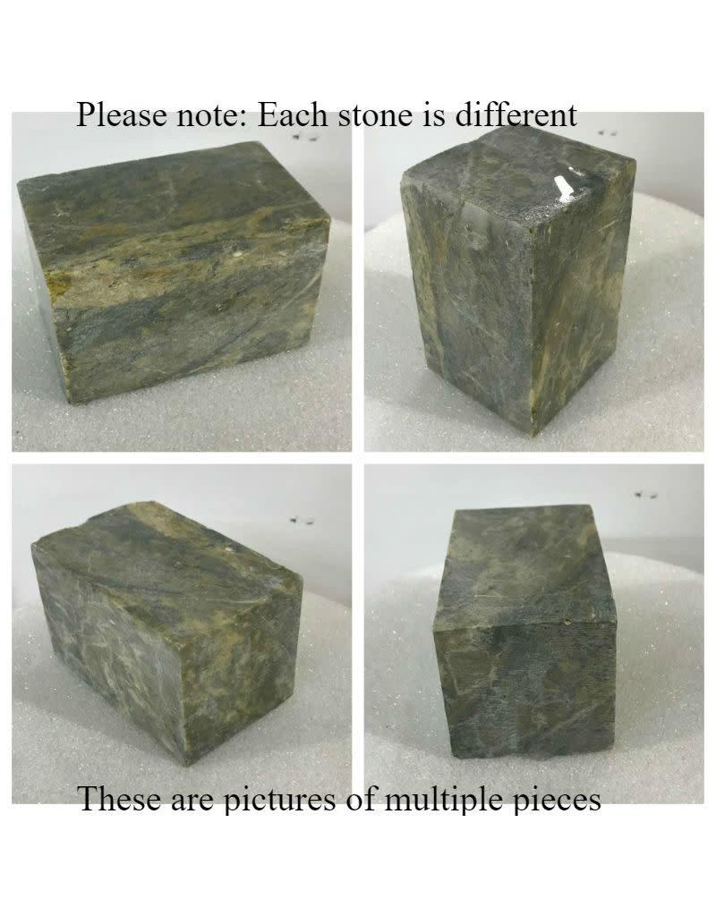 Stone Indian Brown Soapstone 4lb Block 3x3x4.5