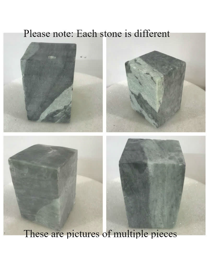 Stone Indian Gray/Green Soapstone 4lb Block 3x3x4.5