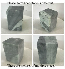 Stone Indian Gray/Green Soapstone 16lb Block 5x5x6
