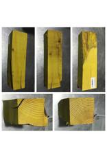 "Wood Yellow Heart Block 3x3""x11"""