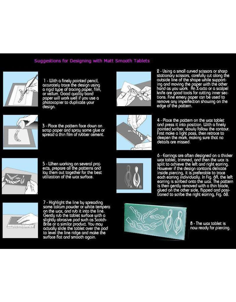 Du-Matt Wax Tablet Purple (190mmx165mmx5mm) 2 pack