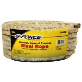 "Twisted Sisal Rope 3/8"" x 50'"