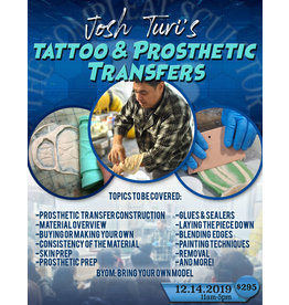 Designs To Deceive 191214 Silicone Prosthetic and Tattoo Transfer Application 11am-5pm December 14 JTM
