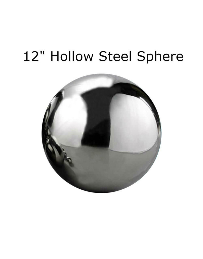 Just Sculpt Silver Mirror Finish Stainless Steel Sphere 30cm (12in)
