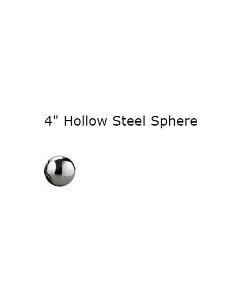 Just Sculpt Silver Mirror Finish Stainless Steel Sphere 08cm (4in)