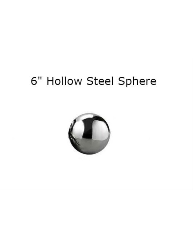 Just Sculpt Silver Mirror Finish Stainless Steel Sphere 15cm (6in)