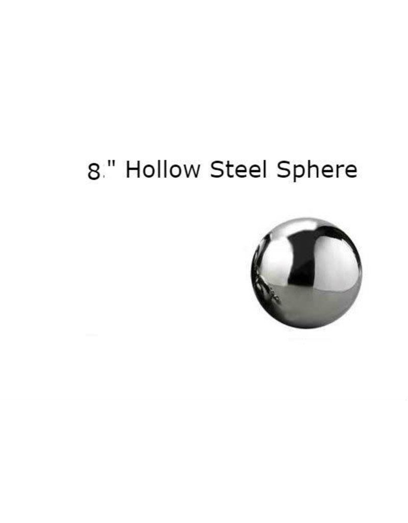 Just Sculpt Silver Mirror Finish Stainless Steel Sphere 20cm (8in)