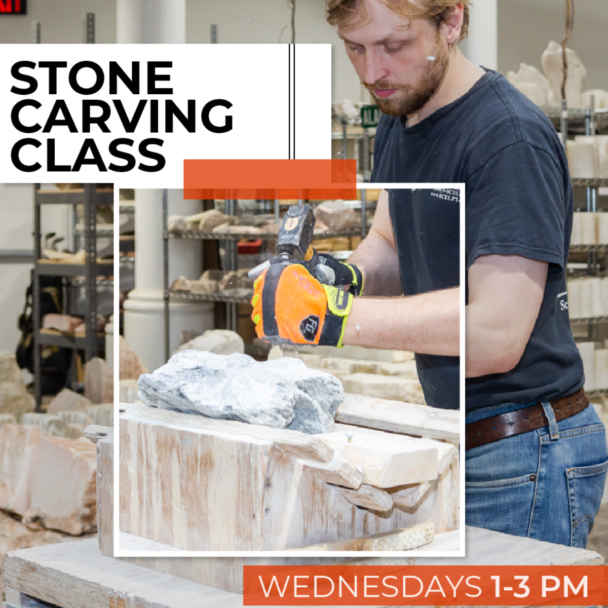 200200 Stone Carving Wednesday Afternoon Class February