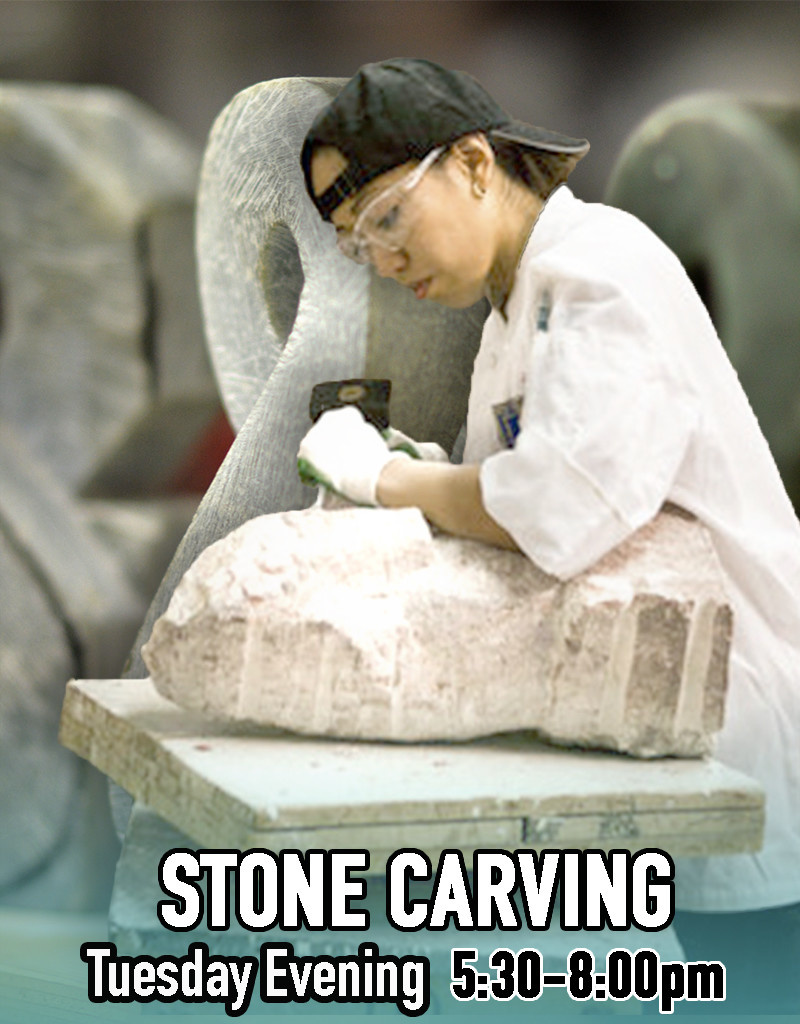 200300 Stone Carving Tuesday Evening Class March