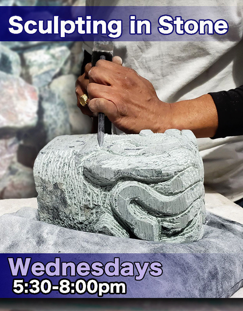 200600 Stone Carving Wednesday Evening Class June