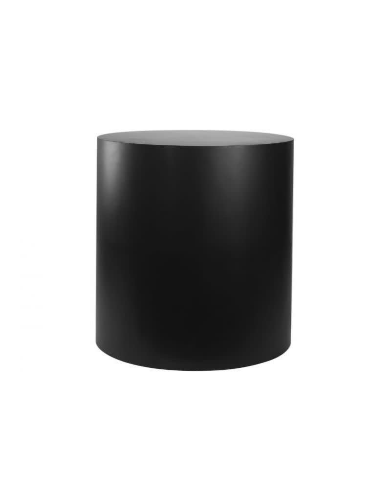 Just Sculpt Formica Pedestal Cylinder 20Dx24H Black Satin