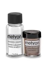 Mehron Metallic Powder with Mixing Liquid Bronze