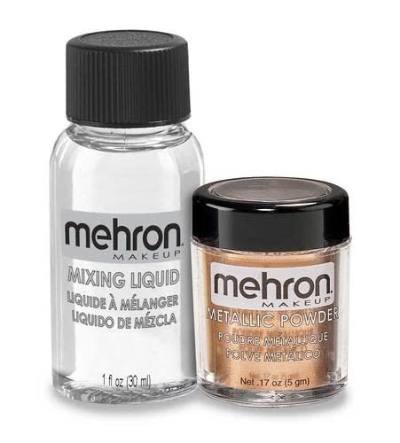 Mehron Metallic Powder with Mixing Liquid Copper