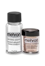 Mehron Metallic Powder with Mixing Liquid Rose Gold