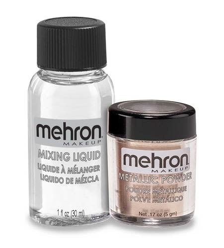 Mehron Metallic Powder with Mixing Liquid Rose Gold