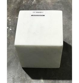 Stone Carrara White Marble cube 6x6x6
