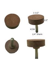 Norton Aluminum Oxide Mounted Stone AO #236 1-1/2x1/2 (1/4 shank)