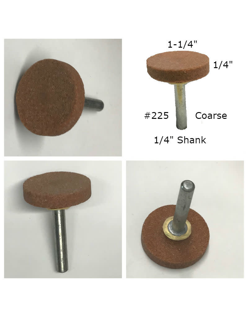 Norton Aluminum Oxide Mounted Stone AO #225 1-1/4x1/4 (1/4 shank) Coarse