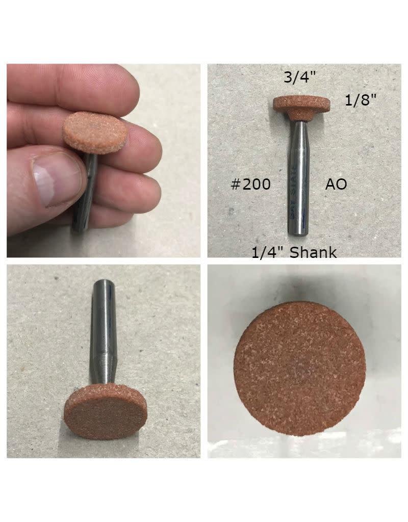 Norton Aluminum Oxide Mounted Stone AO #200 3/4x1/8 (1/4 shank)