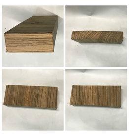 Wood ZebraWood Block 7x2.5x2