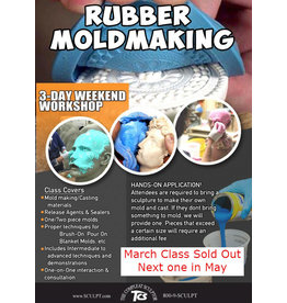 TCS Classes 200327 Mold-Making Hands-On Intensive Workshop March 27-29 Closed