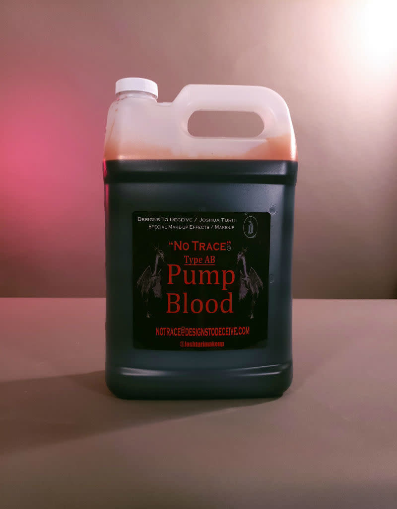 Designs To Deceive No Trace Blood AB Pump Blood Gallon