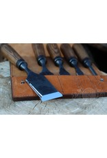 Just Sculpt Chisels with Beveled edges in the leather bag (set of 5)