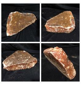 16lb Orange Translucent Alabaster 12x7x3 #554361
