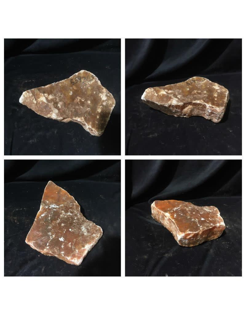 22lb Orange Translucent Alabaster 13x9x3 #554355