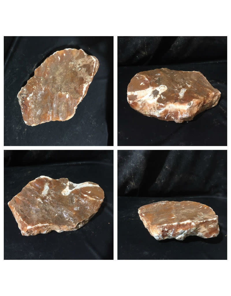 Stone 27lb Orange Translucent Alabaster 13x9x3 #554375