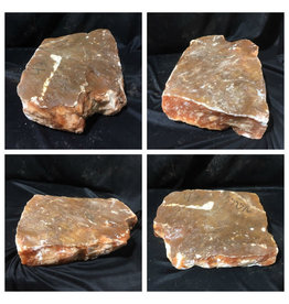 42lb Orange Translucent Alabaster 15x10x4 #554376