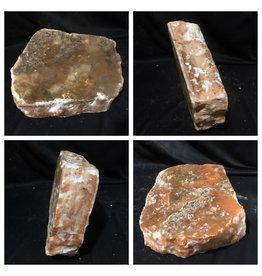 43lb Orange Translucent Alabaster 14x12x4 #554362
