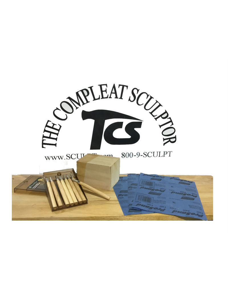 Just Sculpt Beginner Wood Carving Kit