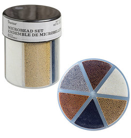 Darice 6-Color Microbeads Caddy Metallics