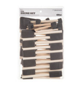 Darice Foam Brush Set 60pc Assorted