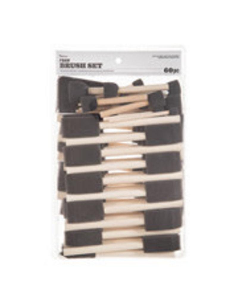 Darice Foam Brush Set 60pc Assorted