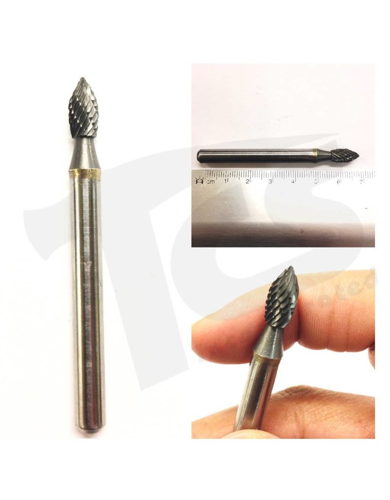 Just Sculpt Flame Double Cut Carbide Burr SH-1