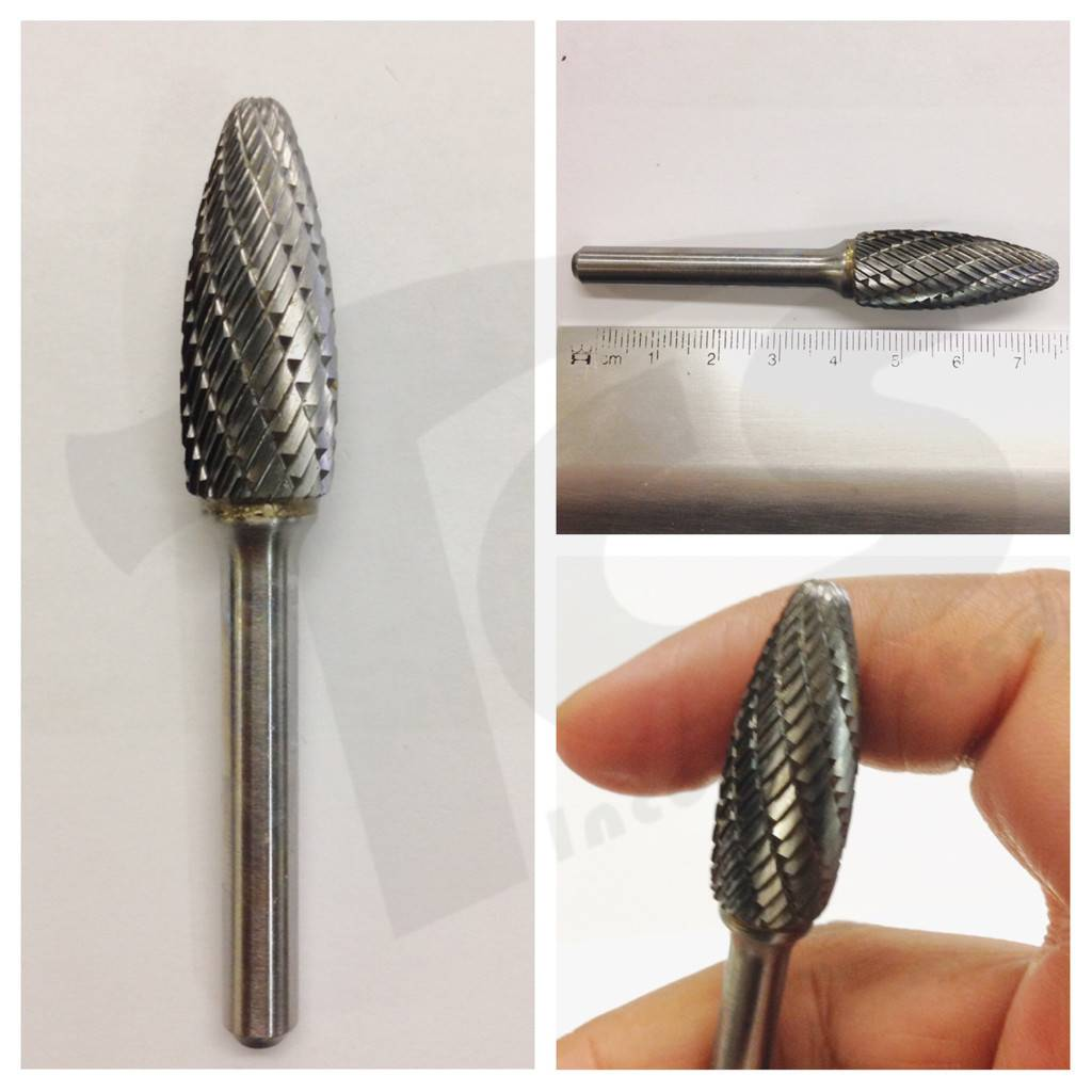 Flame Double Cut Carbide Burr SH-5
