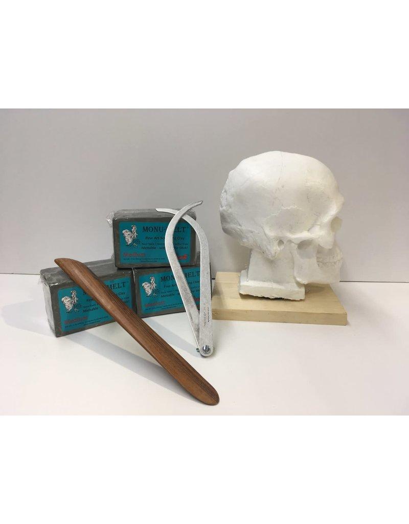 Just Sculpt SONDOW Return Student Skull Class Kit