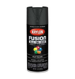 Krylon Krylon Fusion Flat Black 12oz Spray Can 2728 (formerly 2519)