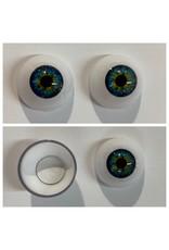 Just Sculpt Acrylic Eyes 22mm Blue Hazel (Pair)