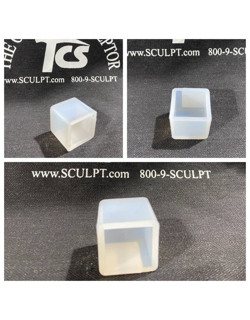 Just Sculpt 1in Cube Silicone Mold