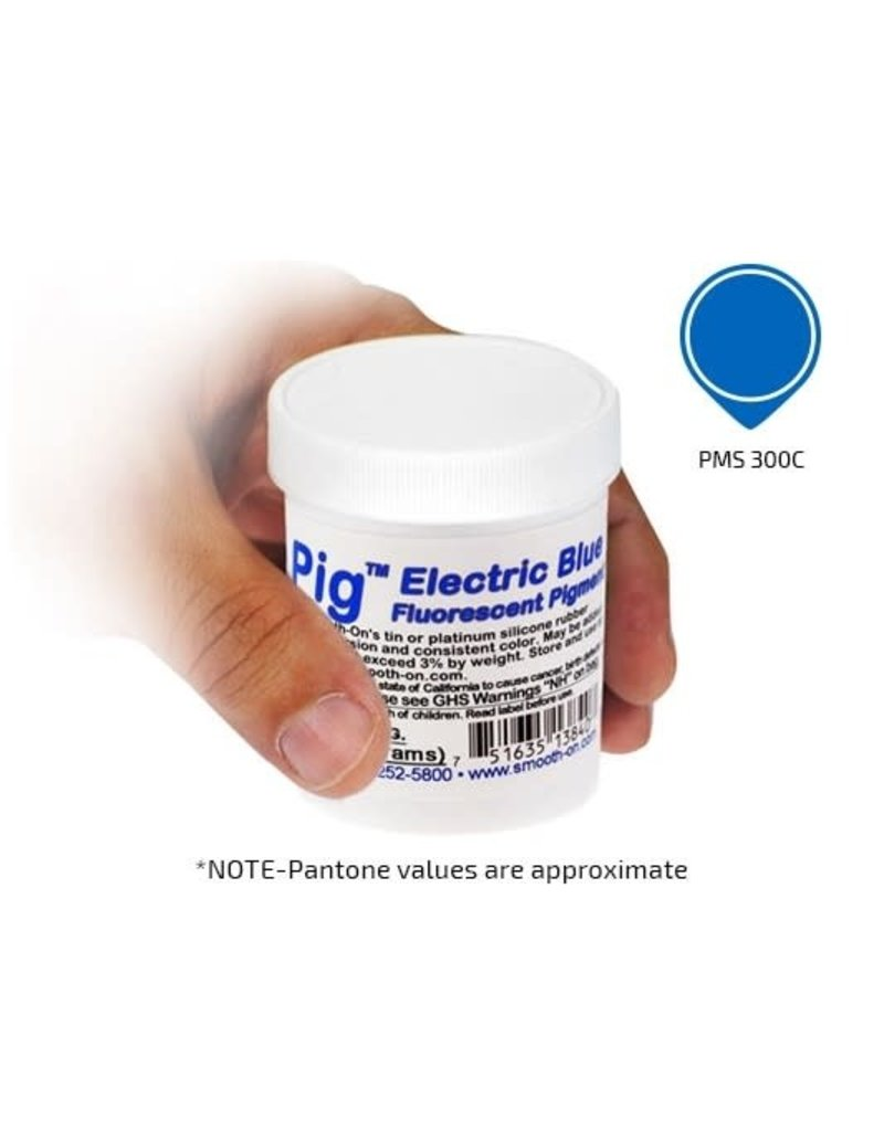 Smooth-On Silc Pig Electric Blue Fluorescent 4oz Pigment