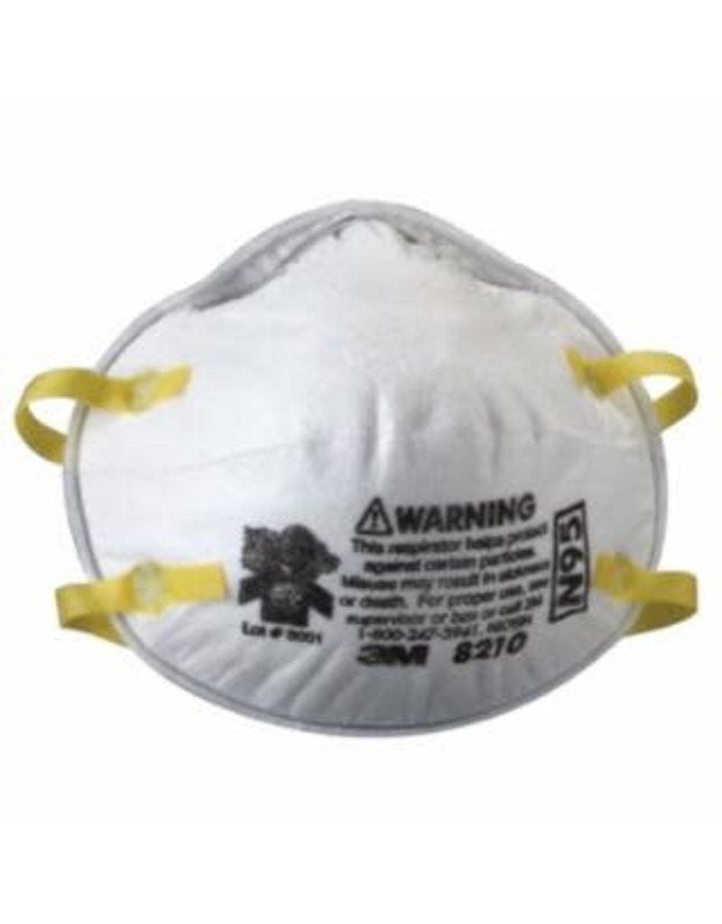 3M N95 Valveless Particulate Respirator 8210 2pk